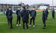 22 March 2019; Finn Harps players before the SSE Airtricity League Premier Division between Finn Harps and Shamrock Rovers at Finn Park in Ballybofey, Co. Donegal. Photo by Oliver McVeigh/Sportsfile