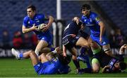 22 March 2019; Conor O'Brien of Leinster makes a break during the Guinness PRO14 Round 18 match between Edinburgh and Leinster at BT Murrayfield Stadium in Edinburgh, Scotland. Photo by Ramsey Cardy/Sportsfile