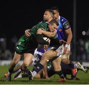 22 March 2019; Stephen Fitzgerald of Connacht is tackled by Tommaso Benvenuti of Benetton Rugby during the Guinness PRO14 Round 18 match between Connacht and Benetton Rugby at The Sportsground in Galway. Photo by Brendan Moran/Sportsfile