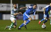 22 March 2019; Mark Coyle of Finn Harps in action against Greg Bolger of Shamrock Rovers during the SSE Airtricity League Premier Division between Finn Harps and Shamrock Rovers at Finn Park in Ballybofey, Co. Donegal. Photo by Oliver McVeigh/Sportsfile