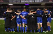 22 March 2019; The Leinster team huddle following the Guinness PRO14 Round 18 match between Edinburgh and Leinster at BT Murrayfield Stadium in Edinburgh, Scotland. Photo by Ramsey Cardy/Sportsfile