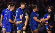 22 March 2019; Fergus McFadden of Leinster shakes hands with John Barclay of Edinburgh following the Guinness PRO14 Round 18 match between Edinburgh and Leinster at BT Murrayfield Stadium in Edinburgh, Scotland. Photo by Ramsey Cardy/Sportsfile