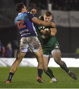 22 March 2019; Peter Robb of Connacht is tackled by Alberto Sgarbi of Benetton Rugby during the Guinness PRO14 Round 18 match between Connacht and Benetton Rugby at The Sportsground in Galway. Photo by Brendan Moran/Sportsfile