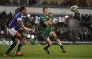 22 March 2019; Jack Carty of Connacht passes the ball to team-mate Matt Healy (not in picture) for Connacht's third try during the Guinness PRO14 Round 18 match between Connacht and Benetton Rugby at The Sportsground in Galway. Photo by Brendan Moran/Sportsfile
