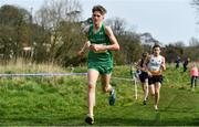 23 March 2019; Myles Hewlett of CBS New Ross, Co.Waterford, Ireland, competing in the Junior Boys event during the SIAB Schools Cross Country International at Santry Demense in Santry, Dublin. Photo by Sam Barnes/Sportsfile