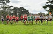 23 March 2019; A general view of the start of the Intermediate boys during the SIAB Schools Cross Country International at Santry Demense in Santry, Dublin. Photo by Sam Barnes/Sportsfile