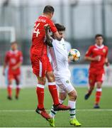 23 March 2019; Roy Chipolina of Gibraltar in action against Sean Maguire of Republic of Ireland during the UEFA EURO2020 Qualifier Group D match between Gibraltar and Republic of Ireland at Victoria Stadium in Gibraltar. Photo by Stephen McCarthy/Sportsfile