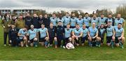 23 March 2019; The University College Dublin squad after the Maughan-Scally Cup after the Maughan-Scally Cup final between Ulster University Coleraine and University College Dublin at the University of Ulster in Coleraine, Derry. The annual Maughan Scally Cup is organized by the Irish Universities' Rugby Union, which is sponsored by Maxol. Being played for the first time at Ulster University's Coleraine campus this weekend, the event celebrates participation in student rugby. Photo by Oliver McVeigh/Sportsfile