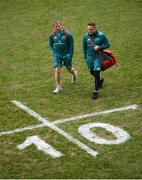 23 March 2019; Forwards coach Jerry Flannery and Rory Scannell of Munster arrive prior to the Guinness PRO14 Round 18 match between Munster and Zebre at Thomond Park in Limerick. Photo by Diarmuid Greene/Sportsfile