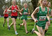 23 March 2019; Alex Cashman of Pobalscoil naTrionoide Youghal, Co.Cork, Ireland, competing in the Junior Girls event during the SIAB Schools Cross Country International at Santry Demense in Santry, Dublin. Photo by Sam Barnes/Sportsfile