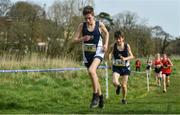 23 March 2019; Finlay Ross of Firrhill High School, Edinburgh, Scotland, competing in the Junior Boys event during the SIAB Schools Cross Country International at Santry Demense in Santry, Dublin. Photo by Sam Barnes/Sportsfile