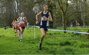 23 March 2019; Katie Johnson of Preston Lodge High School, Prestonpans, Scotland, competing in the Junior Girls event during the SIAB Schools Cross Country International at Santry Demense in Santry, Dublin. Photo by Sam Barnes/Sportsfile