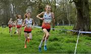 23 March 2019; Kiya Dee of Farmors School, Gloucestershire, England, competing in the Junior Girls event during the SIAB Schools Cross Country International at Santry Demense in Santry, Dublin. Photo by Sam Barnes/Sportsfile