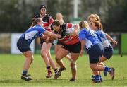 23 March 2019; Rachel Griffey of Wicklow RFC takes on the Edenderry RFC defence during the Bank of Ireland Leinster Rugby Women's Division 2 Cup Final match between Wicklow RFC and Edenderry RFC at Naas RFC in Naas, Kildare. Photo by Piaras Ó Mídheach/Sportsfile