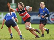 23 March 2019; Rachel Griffey of Wicklow RFC in action against Paula Harte of Edenderry RFC during the Bank of Ireland Leinster Rugby Women's Division 2 Cup Final match between Wicklow RFC and Edenderry RFC at Naas RFC in Naas, Kildare. Photo by Piaras Ó Mídheach/Sportsfile