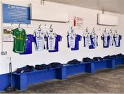 24 March 2019; Cavan jerseys in the dressing room before the Allianz Football League Division 1 Round 7 match between Cavan and Dublin at Kingspan Breffni in Cavan. Photo by Ray McManus/Sportsfile
