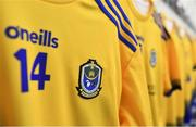 24 March 2019; A detailed view of the jersey belonging to Conor Cox of Roscommon during the Allianz Football League Division 1 Round 7 match between Roscommon and Kerry at Dr. Hyde Park in Roscommon. Photo by Sam Barnes/Sportsfile