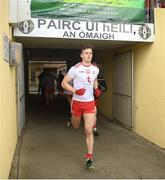24 March 2019; Brian Kennedy of Tyrone runs out prior to the Allianz Football League Division 1 Round 7 match between Tyrone and Galway at Healy Park in Omagh. Photo by David Fitzgerald/Sportsfile
