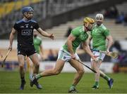 24 March 2019; Dan Morrissey of Limerick in action against Riain McBride of Dublin during the Allianz Hurling League Division 1 Semi-Final match between Limerick and Dublin at Nowlan Park in Kilkenny. Photo by Brendan Moran/Sportsfile