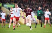 24 March 2019; Shane Walsh of Galway in action against Kieran McGeary of Tyrone during the Allianz Football League Division 1 Round 7 match between Tyrone and Galway at Healy Park in Omagh. Photo by David Fitzgerald/Sportsfile