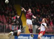 24 March 2019; Danny Cummins of Galway scores his side's first goal during the Allianz Football League Division 1 Round 7 match between Tyrone and Galway at Healy Park in Omagh. Photo by David Fitzgerald/Sportsfile