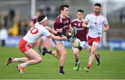 24 March 2019; Finnian Ó Laoí of Galway in action against Colm Cavanagh of Tyrone during the Allianz Football League Division 1 Round 7 match between Tyrone and Galway at Healy Park in Omagh. Photo by David Fitzgerald/Sportsfile