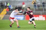 24 March 2019; Antaine Ó Laoí of Galway in action against Pádraig Hampsey of Tyrone during the Allianz Football League Division 1 Round 7 match between Tyrone and Galway at Healy Park in Omagh. Photo by David Fitzgerald/Sportsfile