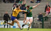 24 March 2019; Stephen O'Brien of Kerry in action against Conor Hussey of Roscommon during the Allianz Football League Division 1 Round 7 match between Roscommon and Kerry at Dr. Hyde Park in Roscommon. Photo by Sam Barnes/Sportsfile