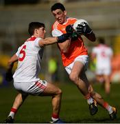 24 March 2019; Rory Grugan of Armagh in action against Kevin Crowley of Cork during the Allianz Football League Division 2 Round 7 match between Armagh and Cork at the Athletic Grounds in Armagh. Photo by Ramsey Cardy/Sportsfile