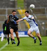 24 March 2019; Niall Scully of Dublin in action against Conor Rehill of Cavan during the Allianz Football League Division 1 Round 7 match between Cavan and Dublin at Kingspan Breffni in Cavan. Photo by Ray McManus/Sportsfile