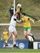24 March 2019; Peter Kelly of Kildare in action against Jamie Brennan of Donegal during the Allianz Football League Division 2 Round 7 match between Donegal and Kildare at Fr. Tierney Park in Ballyshannon, Donegal. Photo by Oliver McVeigh/Sportsfile