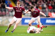 24 March 2019; Cathal McShane of Tyrone is tackled by Eoghan Kerin of Galway resulting in a penalty during the Allianz Football League Division 1 Round 7 match between Tyrone and Galway at Healy Park in Omagh. Photo by David Fitzgerald/Sportsfile