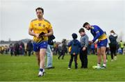 24 March 2019; Niall Kilroy of Roscommon leaves the field as Colm Lavin of Roscommon signs autographs following the Allianz Football League Division 1 Round 7 match between Roscommon and Kerry at Dr. Hyde Park in Roscommon. Photo by Sam Barnes/Sportsfile