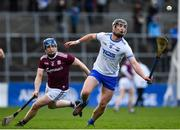 24 March 2019; Pauric Mahony of Waterford in action against Paul Killeen of Galway during the Allianz Hurling League Division 1 semi-final match between Galway and Waterford at Nowlan Park in Kilkenny. Photo by Brendan Moran/Sportsfile
