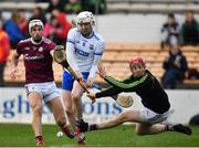 24 March 2019; Shane Bennett of Waterford has his shot saved by Fergal Flannery of Galway during the Allianz Hurling League Division 1 semi-final match between Galway and Waterford at Nowlan Park in Kilkenny. Photo by Brendan Moran/Sportsfile