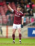 24 March 2019; Danny Cummins of Galway celebrates after scoring his side's first goal during the Allianz Football League Division 1 Round 7 match between Tyrone and Galway at Healy Park in Omagh. Photo by David Fitzgerald/Sportsfile