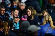 24 March 2019; Philly McMahon of Dublin poses for a picture with Dublin supporters after the Allianz Football League Division 1 Round 7 match between Cavan and Dublin at Kingspan Breffni in Cavan. Photo by Ray McManus/Sportsfile
