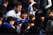 24 March 2019; Padraig Faulkner of Cavan poses for a picture with Cavan supporters after the Allianz Football League Division 1 Round 7 match between Cavan and Dublin at Kingspan Breffni in Cavan. Photo by Ray McManus/Sportsfile