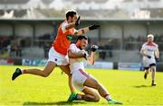 24 March 2019; Kevin O'Driscoll of Cork in action against Jamie Clarke of Armagh during the Allianz Football League Division 2 Round 7 match between Armagh and Cork at the Athletic Grounds in Armagh. Photo by Ramsey Cardy/Sportsfile