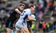 24 March 2019; Martin Reilly of Cavan in action against Cian O'Connor of Dublin during the Allianz Football League Division 1 Round 7 match between Cavan and Dublin at Kingspan Breffni in Cavan. Photo by Ray McManus/Sportsfile