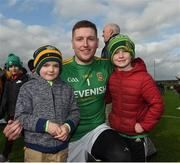 24 March 2019; Meath's Andrew Colgan with Frankie and Arthur Jackson from Moynalty after the game in the Allianz Football League Division 2 Round 7 match between Meath and Fermanagh at Páirc Tailteann in Navan, Co Meath. Photo by Philip Fitzpatrick/Sportsfile