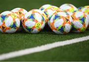 23 March 2019; Matchballs on the pitch prior to the UEFA EURO2020 Qualifier Group D match between Gibraltar and Republic of Ireland at Victoria Stadium in Gibraltar. Photo by Stephen McCarthy/Sportsfile