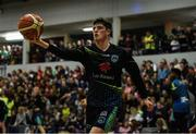 24 March 2019; Daire Kennelly of Garvey's Tralee Warriors during the warm-up prior to the Basketball Ireland Men's Superleague match between Garvey's Warriors Tralee and UCD Marian in the Tralee Sports Complex in Tralee, Co. Kerry. Photo by Diarmuid Greene/Sportsfile
