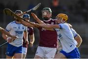 24 March 2019;Cathal Mannion of Galway in action against Jack Prenderdgast of Waterford during the Allianz Hurling League Division 1 semi-final match between Galway and Waterford at Nowlan Park in Kilkenny. Photo by Brendan Moran/Sportsfile
