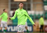 24 March 2019; Conor Masterson of Republic of Ireland warms-up prior to the UEFA European U21 Championship Qualifier Group 1 match between Republic of Ireland and Luxembourg in Tallaght Stadium in Dublin. Photo by Ben McShane/Sportsfile