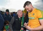 24 March 2019; Michael Newman of Meath and Paul Tracey during the Allianz Football League Division 2 Round 7 match between Meath and Fermanagh at Páirc Tailteann in Navan, Co Meath. Photo by Philip Fitzpatrick/Sportsfile