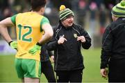 24 March 2019; Donegal Manager Declan Bonner before the Allianz Football League Division 2 Round 7 match between Donegal and Kildare at Fr. Tierney Park in Ballyshannon, Donegal. Photo by Oliver McVeigh/Sportsfile