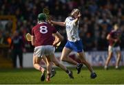 24 March 2019; Calum Lyons of Waterford in action against Cathal Mannion of Galway during the Allianz Hurling League Division 1 Semi-Final match between Galway and Waterford at Nowlan Park in Kilkenny. Photo by Harry Murphy/Sportsfile