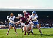 24 March 2019; Darren Morrissey of Galway in action against Austin Gleeson of Waterford during the Allianz Hurling League Division 1 Semi-Final match between Galway and Waterford at Nowlan Park in Kilkenny. Photo by Harry Murphy/Sportsfile