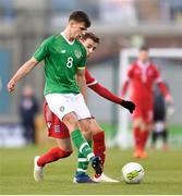 24 March 2019; Jayson Molumby of Republic of Ireland in action against Lucas Prudhomme of Luxembourg during the UEFA European U21 Championship Qualifier Group 1 match between Republic of Ireland and Luxembourg in Tallaght Stadium in Dublin. Photo by Ben McShane/Sportsfile